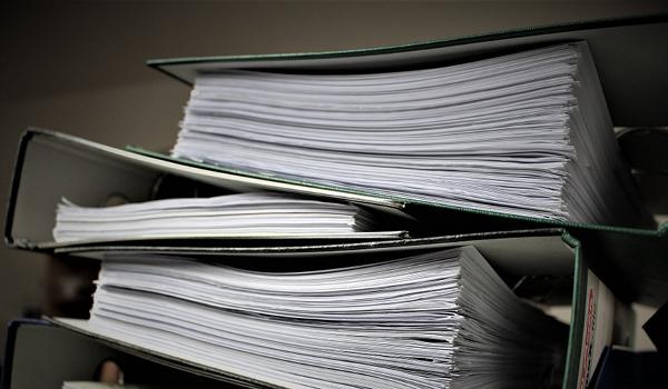 Eingeschränkte Abgabe von Unterlagen